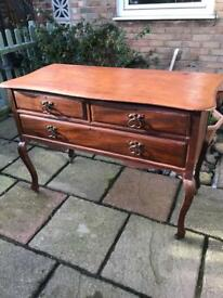 Solid wood Victorian hallway table (can deliver)