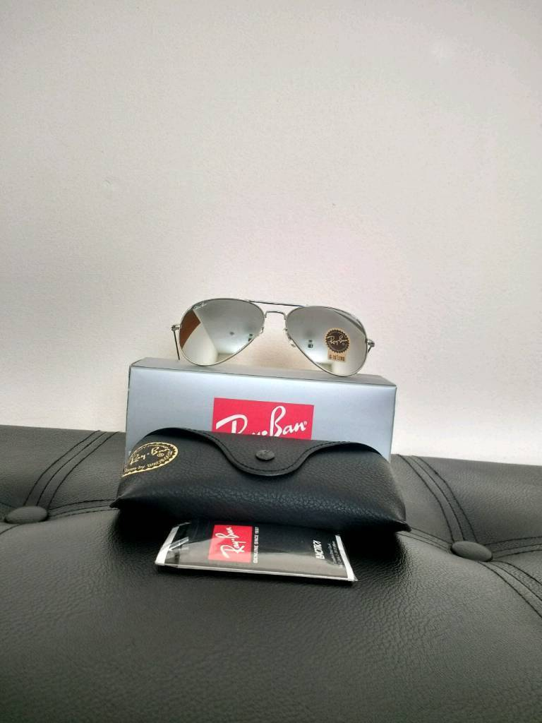 34b8b564507 Ray-Ban aviator sunglasses chrome