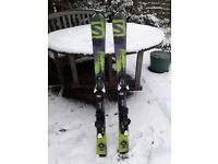 Kids skis with bindings, 110cm, Salomon, excellent condition!