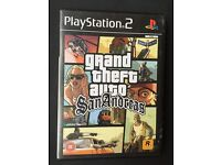 Grand Auto Theft San Andreas for Ps2 with Manual