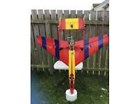 RC model aircraft Keecat Jet complete with 91 glow engine