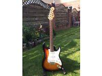 Fender Squire Stratocaster- Brown Sunburst/Rosewood Fretboard- Vintage vibe with a modern sound!