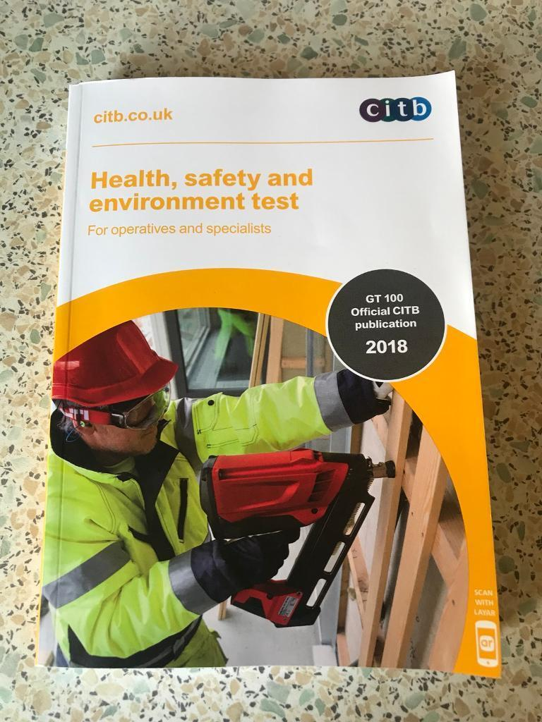 CSCS, CITB HEALTH, SAFETY AND ENVIRONMENT TEST BOOK  2018  | in Harrogate,  North Yorkshire | Gumtree