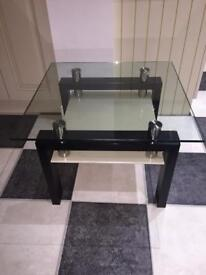 Solid Wood and Glass Coffee Table/ Side Table- Barker & Stonehouse