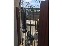 Tall iron gate