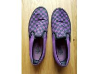 Vans checkerboard slip-on shoes, Unisex, UK Size 8. Just £20