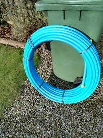 MDPE Pipe - Blue 25 mm X 50 m. New Unused