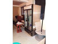 Double door commercial freestanding fridge
