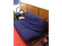 Ikea Futon Sofa Bed in Navy Blue