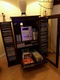 Cd player, unit and storage