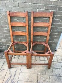 X2 wooden chairs - FREE