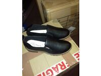 Ladies brand new leather black shoes size 5
