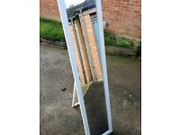 Floor standing full length mirror