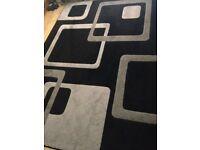 Modern black and grey rug 160cm x 230cm