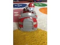 Paw Patrol Marshall and his fire truck