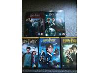 Harry potter dvds set of 5