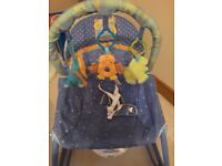 Calming vibrations baby bouncer for sale