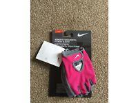Womens Nike pink gym gloves