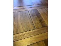 Solid oak extending table