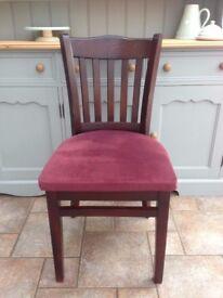 Solid wood pub chair