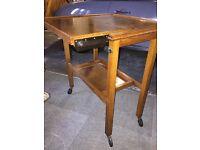 Antique Oak Folding Side Table
