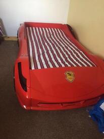 Kids Ferrari car bed