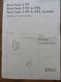 Baxi Boiler Overheat Thermostat Part No 5106746 with instructions - Pokesdown BH5 2AB