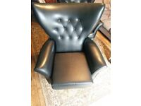 An Original PAIR of G Plan Retro Wing Back Swivel arm chairs. Stunning!