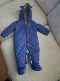 Joules 3-6m snow suit
