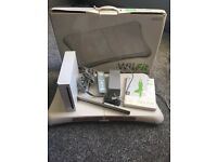 Nintendo Wii console & Wii Fit board & Game