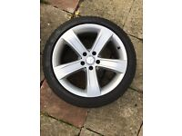 "MERCEDES BENZ GENUIN 18"" ALLOY WHEEL WITH 245/40/18 TYRE"