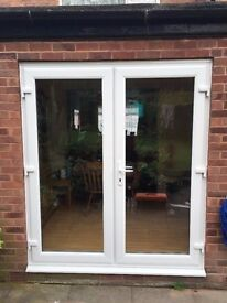 NEW WHITE UPVC FRENCH/PATIO DOORS MADE TO MEASURE 1500 X 2100, £350 FREE DELIVERY