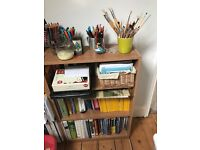 Three book shelves