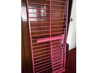 Single Metal Bed Frame Pink