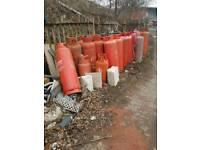 Gas bottles empty