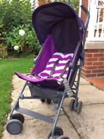 Mamas and Papas Stroller in purple/grey