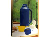 BRAND NEW Insulated FLASK - Plastic flask with glass inner case, keeps your cool or warm