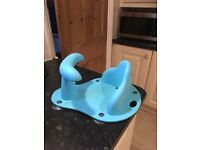 Blue bath seat mothercare