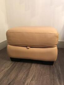 Leather Foot Stool with internal storage