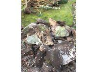 Various size perbeck rockery stone