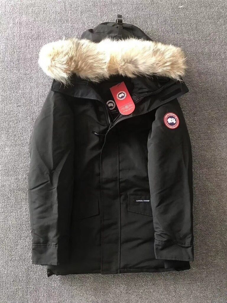 Canada Goose Mens Langford Parka Padded Puffa Winter Down Jacket Cayote Fur  BLACK - Small Medium 2028ebf33