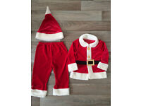 Boys M&S Christmas Santa costume 2-3yrs