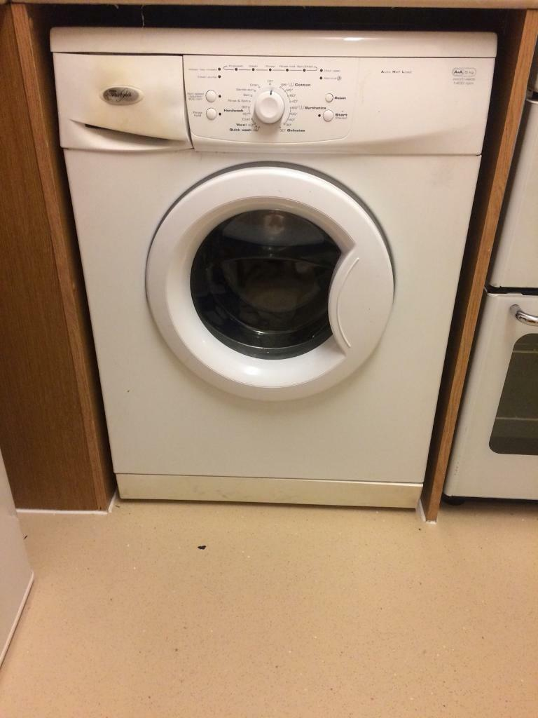 Whirlpool washing machine 5kg 1400 spin
