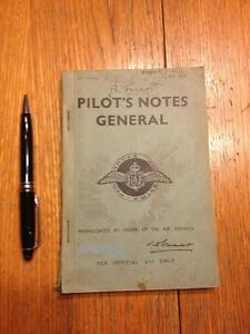 WW2 Pilots notes general 1944