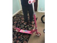 Girls Metal Barbie Scooter - VGC - £7