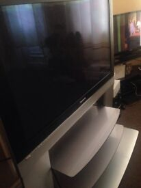 Panasonic tv with built in stand but no remote