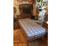 Wooden Single bed and mattress x 2
