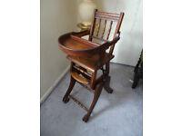 Mahogany Antique Baby's Metamorphic High Chair