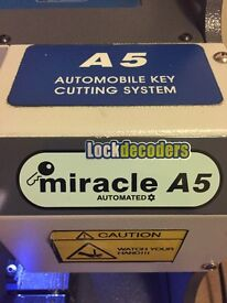 Miracle A5 key cutting machine, shop or Auto mobile locksmith