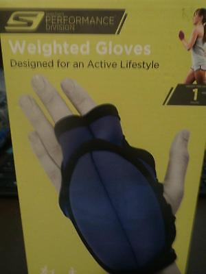 Glove Pounding Pad - NEW SKECHERS PERFORMANCE DIVISON WEIGHTED GLOVE 1 LB POUND PURPLE PADDED GLOVES